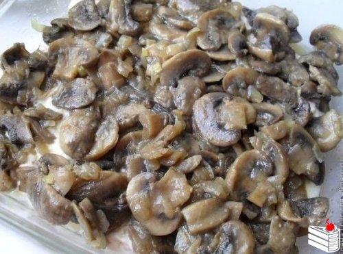 Запеканка картофельная с грибами