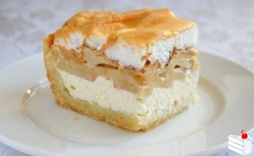 Творожно-яблочный пирог.