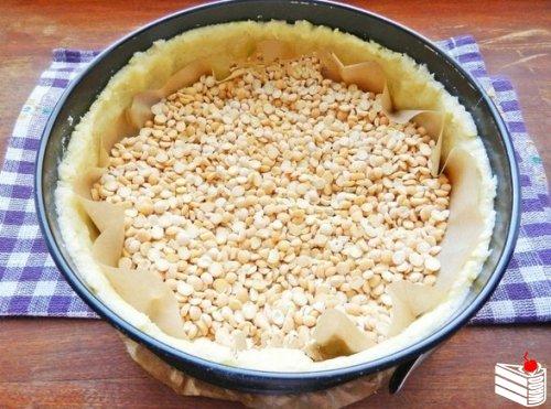 Песочный пирог с малиной.