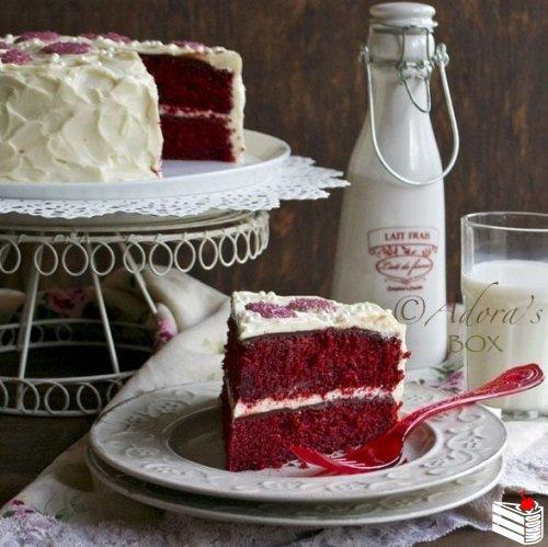 Натуральный торт «Красный бархат» (без красителей).