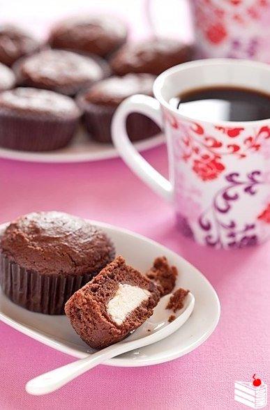 Шоколадно - творожные кексы.