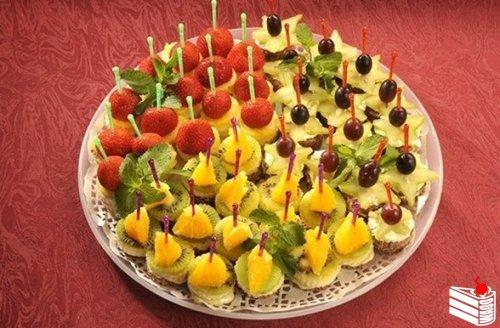 Вкусные закуски на шпажках рецепты с фото