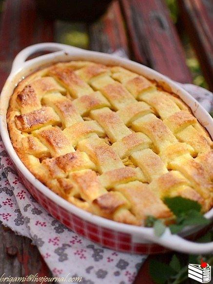 Яблочный именинный пирог.