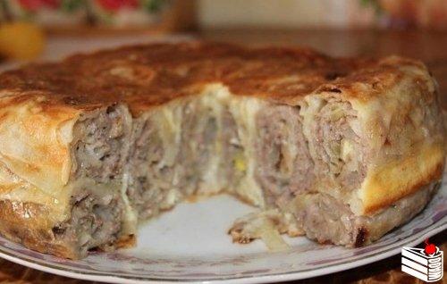 Пирог «Лаваш в заливке».