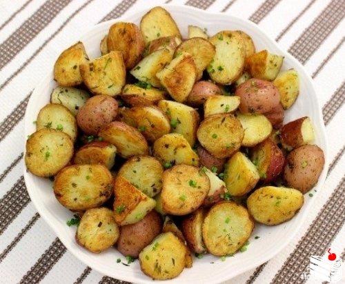 Картофель, запеченный по-мексикански.