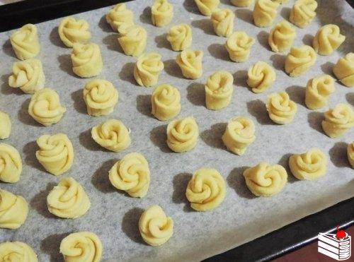 Творожное печенье «Чайная роза».