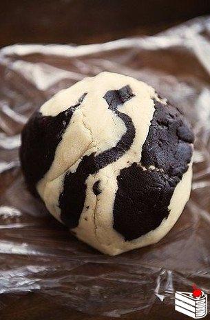 Мраморное печенье.