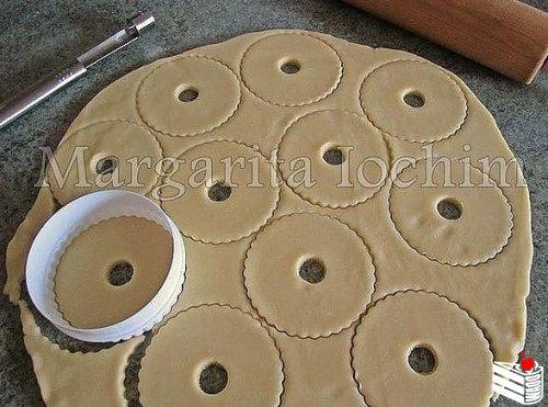 Песочные кольца с орехами.