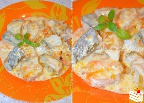 Рецепт рыбы в сливочном соусе от Наташи Чагай.