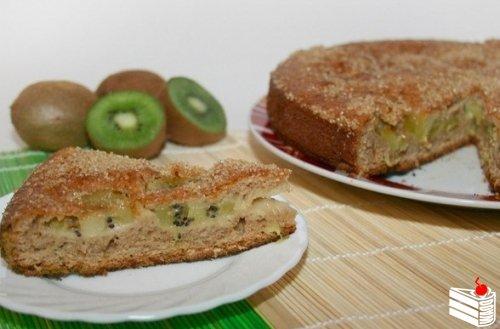 Фруктовый пирог с киви.