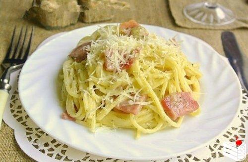 Классическая паста Карбонара.