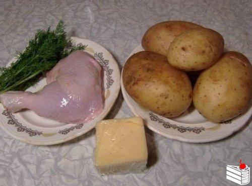 Зразы картофельные с курицей.
