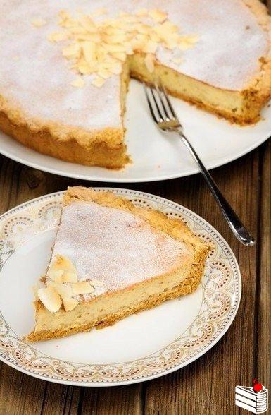 Пирог-объедение с творогом и бананом.