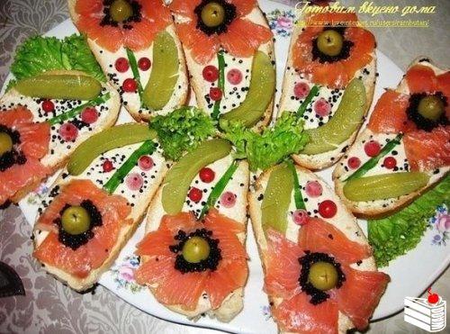 Оригинальные бутерброды.