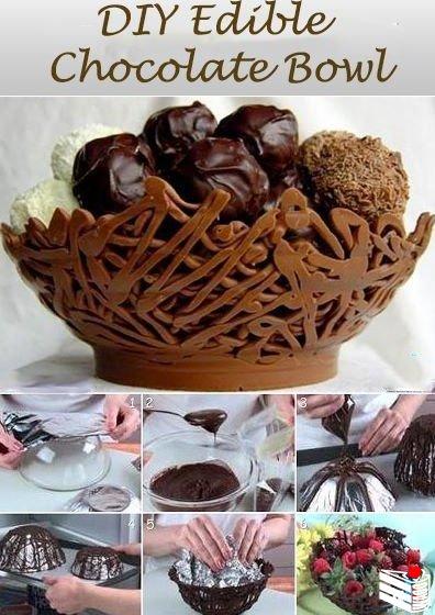 Шоколадные корзинки.
