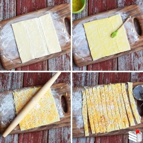 Сырные палочки с беконом.