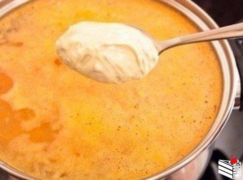 Сырный суп.