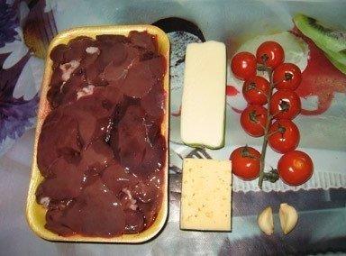 Куриная печень по-итальянски.