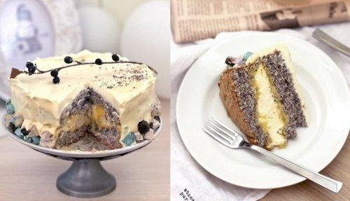 Ангельский торт с маком.