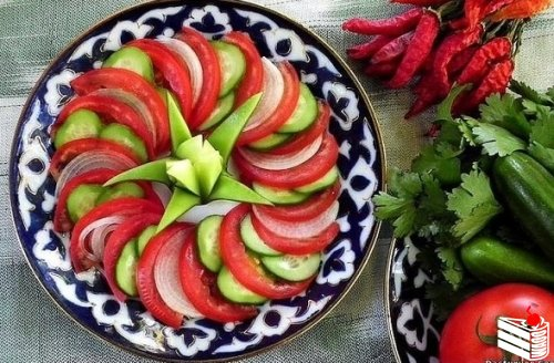 Оформление овощной нарезки.
