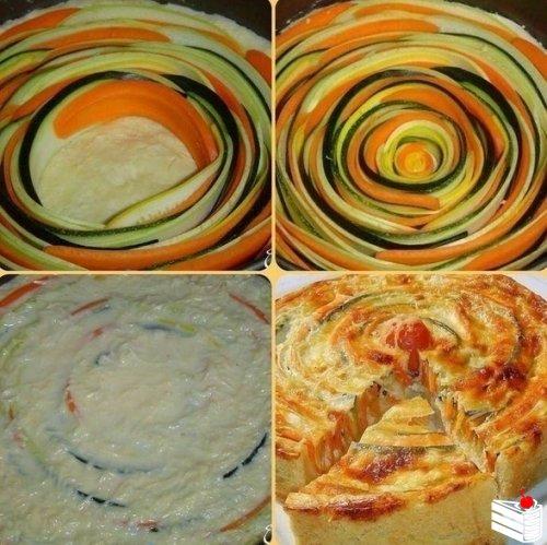 Овощной пирог.