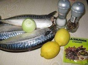 Скумбрия-гриль с лимоном