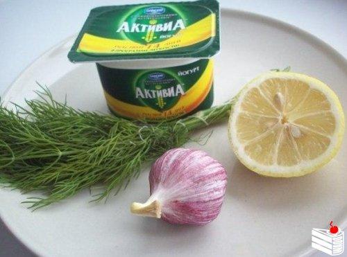 Укропно-йогуртовый соус для рыбы