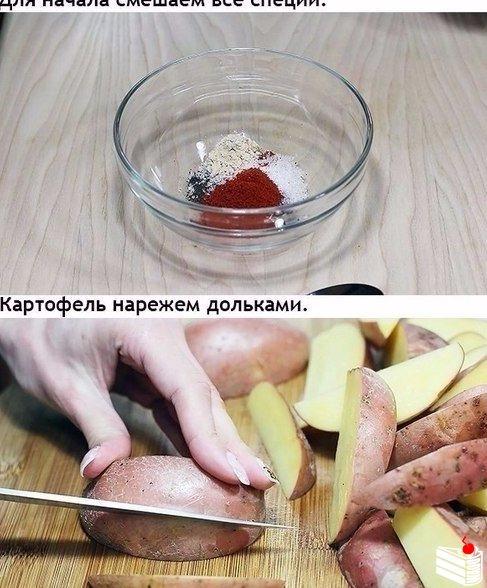 Рецепт вкусного картофеля в духовке.