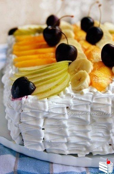 """Оригинальный и вкусный летний торт """"Тропиканка""""."""