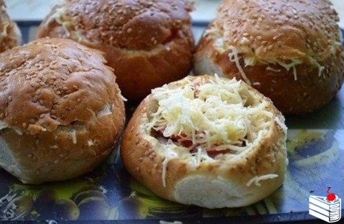 Фаршированные булочки для пикника