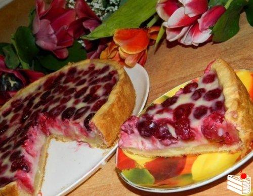 Вишнёво-творожный пирог от Юлии Матвеевой.