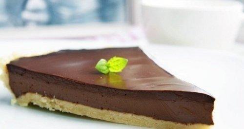 Невероятно вкусный шоколадный тарт.