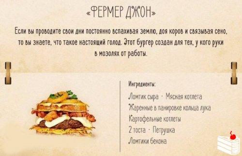 Рецепты десяти вкуснейших бургеров.