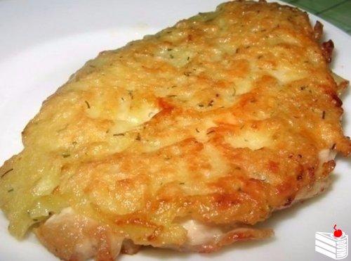 Нежнейшие куриные отбивные с сыром.