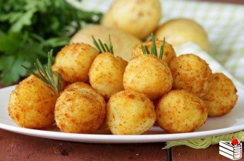 Картофельные шарики с сыром — отличный — необычный гарнир
