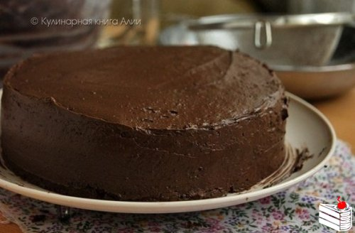Шоколадный торт по госту.