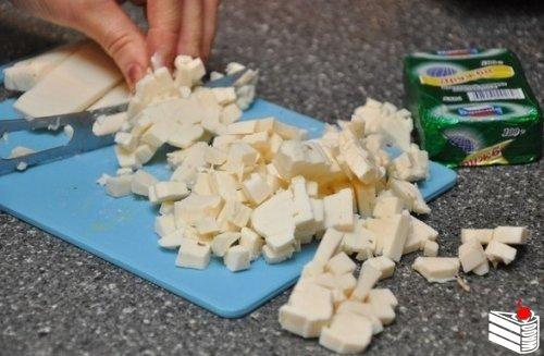 Грибной суп с сыром.