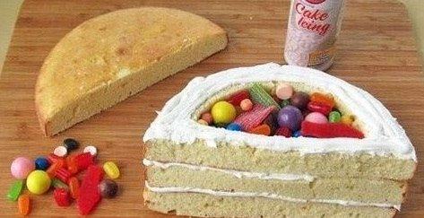 Тортик-радуга.