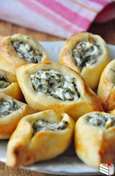 Погача(восточные пирожки) с сыром Фета.