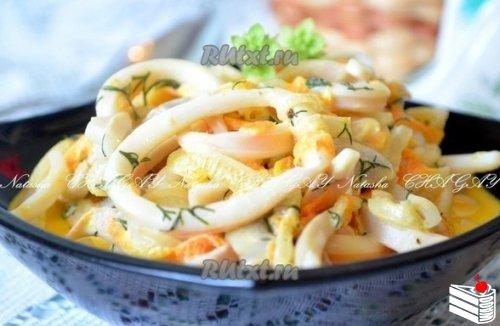 Рецепт кальмаров в сметанном соусе