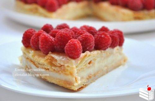Польский пирог с малиной.