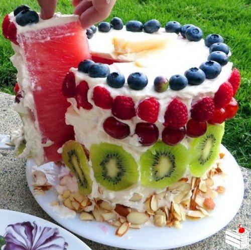 Невероятный арбузный тортик