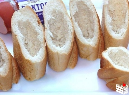 Хлебные стаканчики из багета
