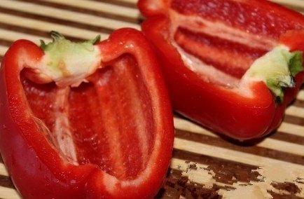 Рецепт фаршированного перца, запеченного в духовке.