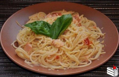 """Спагетти """"Карбонара"""" со сливками."""
