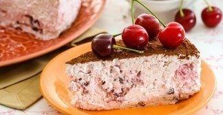 Творожно-ягодный торт(без выпечки).