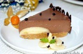 Шоколадно - банановый торт (без выпечки)