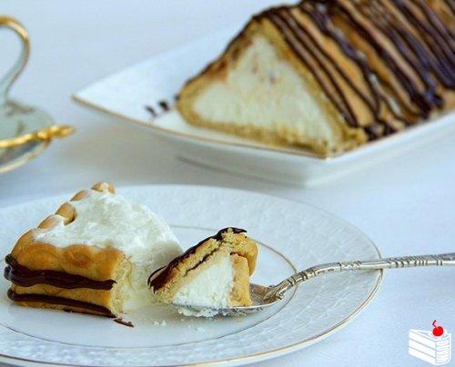 Десерт без выпечки «Творожный домик».