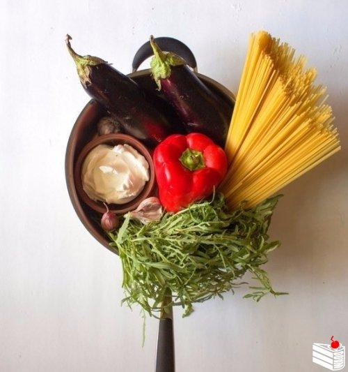 Летняя паста с овощами