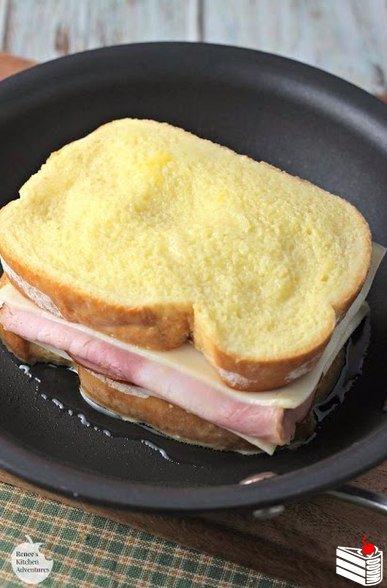 Сэндвич с сыром и ветчиной